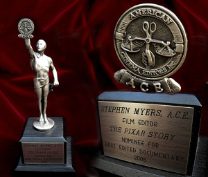 STEPHEN MYERS ACE Eddie nomination statuette
