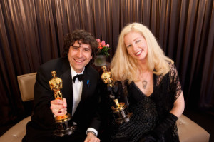 Best Film Editing winners Bob Murawski and Chris Innis backstage during the 82nd Annual Academy Awards at the Kodak Theatre in Hollywood, CA on Sunday, March 7, 2010.