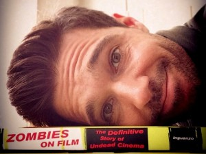 Ozzy Inguanzo with definitive book the book he authored Zombies on Film