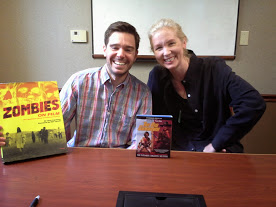 Ozzy Inguanzo with his book Zombies on Film and Chris Innis with the Grindhouse Blu-ray of The Big Gundown